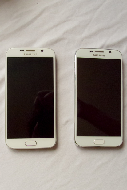 Real Samsung S6 on the left, fake on the right.